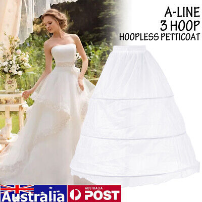 AU Bridal Hoopless Crinoline Hoop Petticoat Slips Underskirt Wedding Dress