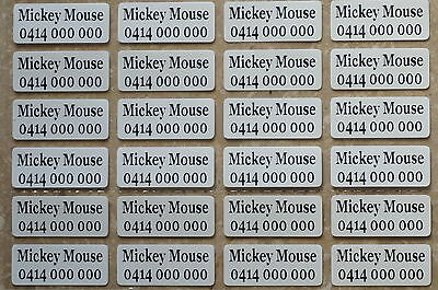 24 IRON ON Personalised Name Stickers Tag / Label for clothing, 2.2 X 0.9 CM