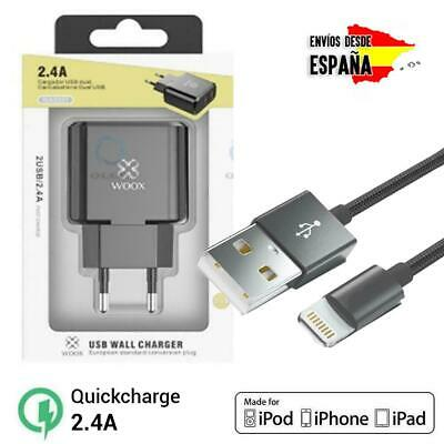 Cable USB Lightning carga Rápida Cargador Datos iphone 6,6s,7,8,X,XR,XS,MAX 11