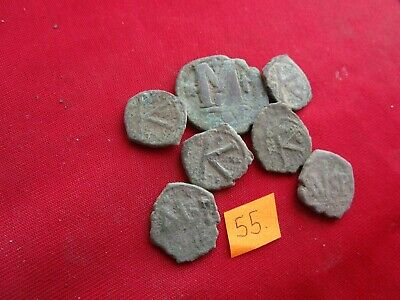 Ancient Byzantine coins - MIX GRADE COINS FOR CLEANING - 7 pieces . Lot 55.