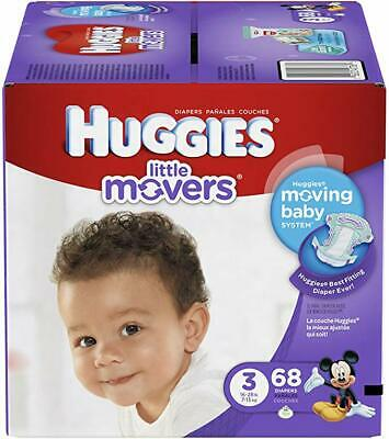Huggies Little Movers Active Baby Diapers Size 3 16-28lbs, 68 count