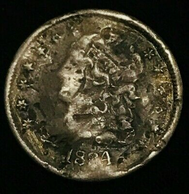 1834 Capped Bust Silver Half Dime 5C Solid Filler Ungraded Early US Coin CCC301