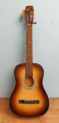 GUITAR ACOUSTIC MELITA 1960s VINTAGE WITH STRAP STRING MISSING
