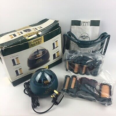 Vintage Carmen Elite Heated Steam Care Rollers 2618 - 20 Rollers - Case - Boxed