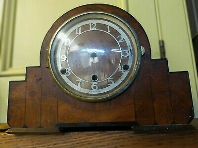 Two 'Westminster chime' art deco clocks for restoration