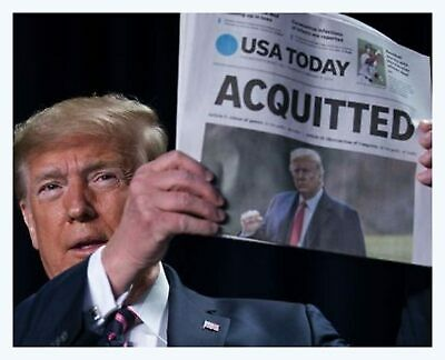 Acquitted Donald Trump President 8x10 Photo Print USA Today Newspaper Headline