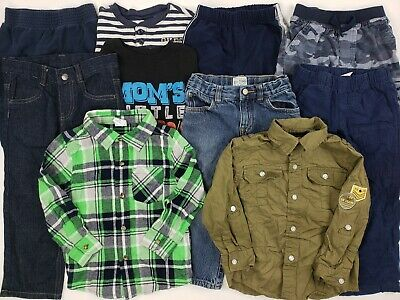3T Boys Clothes Lot Oshkosh Place Calvin Klein Etc Outfit Jean Plaid Collar Pant