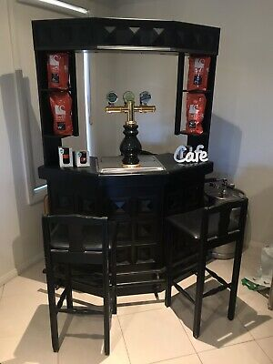 BAR with commercial beer tap system