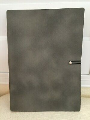 """InTempo Italy Stationary Journal Diary Note Agenda Sketching Book Gray 9x6"""" New"""