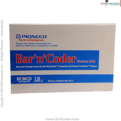 Pioneer LBC-NC3 Bar-n-Coder Barcode Software - New (old stock)