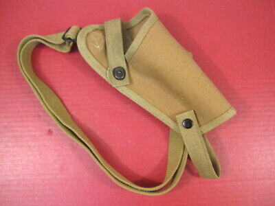 WWII Era US Army M3 Style Canvas Shoulder Holster for Colt M1911 45acp - Repro