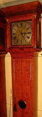 """Antique Walnut Marquetry London  """"Month Duration """" Longcase / Grandfather Clock"""