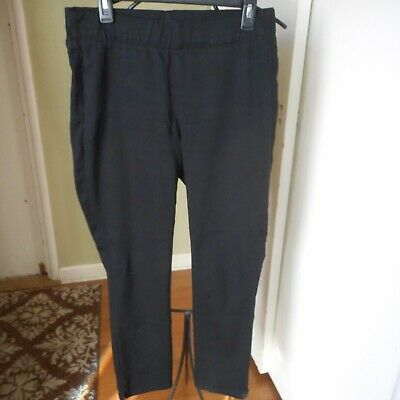 NYDJ Womens Alina Black  Pull-On Ankle Pants NWOT SZ 10 LIFT TUCK