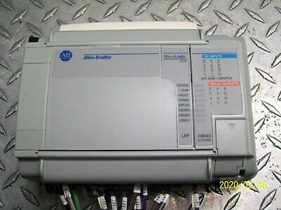 ALLEN BRADLEY 1764-LRP SER C REV F PROCESSOR w 1764-24BWA B BASE & 1769-ECR END