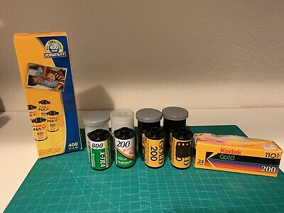expired 35mm film lot Of 9 Kodak Max 400 Fujifilm Kodak Gold 200