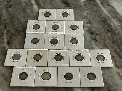 Canada 10 Cents Lot Old 17 Coins .925 Silver 1899 To 1920  1 Queen And 2 Kings