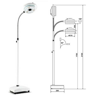 Rigid 36W LED Surgical Clinic Exam Light Mobile Shadowless Lamp Medical Machine