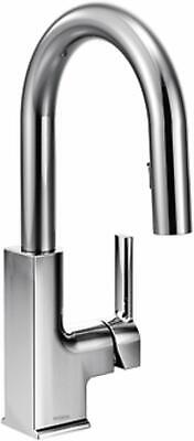 Moen 7615C Woodmere One-Handle High Arc Pulldown Kitchen Faucet Chrome Moen Incorporated