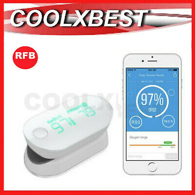 iHEALTH WIRELESS FINGER PULSE OXIMETER BLOOD OXYGEN PERFUSION BLUETOOTH PO3M