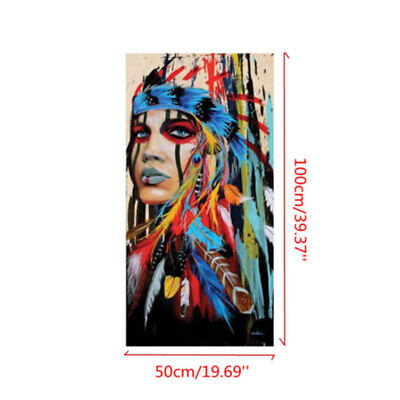 Abstract Indian Woman Canvas Colorful Painting Print Picture Home Wall Decors US