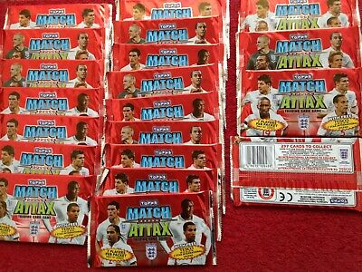 New NOS 20 Packs Topps Match Attax Attack 2010 England World Cup Trading Cards