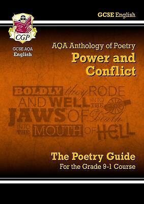 New GCSE English Literature AQA Poetry Guide Power & C by CGP New Paperback Book