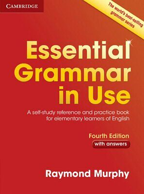 Essential Grammar in Use with Answers by Raymond Murphy New Paperback Book