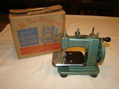 Vintage The New Betsy Ross Miniature Sewing Machine with OB