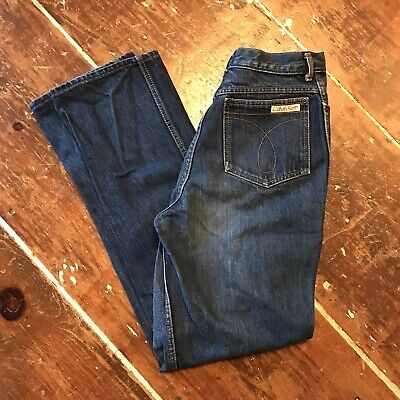Vintage 80s Calvin Klein High Waisted Mom Jeans Womens 12 Faded Blue 28x32 USA