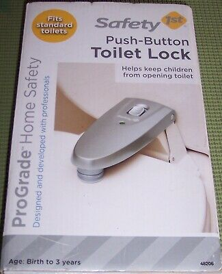 Safety 1st First Push Button Toilet Seat Lock, New in Box, Pro Grade  G517