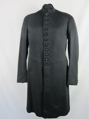 *VTG Mens Long Jacket Coat  Victorian Masonic Steampunk Goth Civil War MED  e