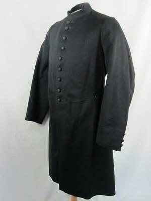 *Med/LG Men's Long Jacket Coat Victorian Masonic Steampunk Goth Civil War VTG g