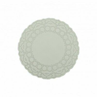 NEW White Paper Lace Round Doilies - 190mm - PACKET(250) - Kent Paper