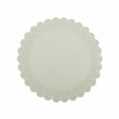 NEW White Paper Lace Round Doilies - 230mm - PACKET(250) - Kent Paper
