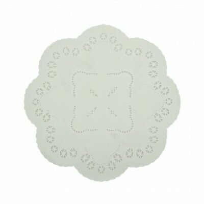 NEW White Paper Lace Round Doilies - 260mm - PACKET(250) - Kent Paper