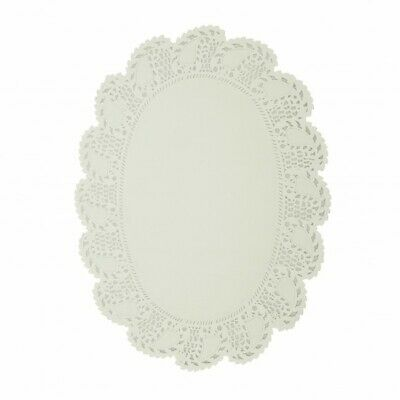 NEW White Paper Lace Oval Doilies - No. 4 (260mm - PACKET(250) - Kent Paper