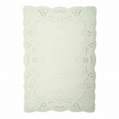 NEW White Paper Lace Rectangular Doilies - 360mm - PACKET(250) - Kent Paper