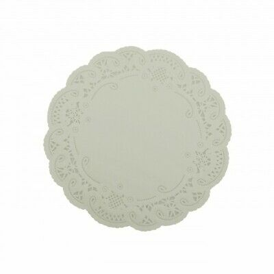 NEW White Paper Lace Round Doilies - 210mm - PACKET(250) - Kent Paper