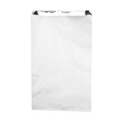 NEW White Foil Bags - 180mm - 55mm gusset - PACKET(250) - Kent Paper