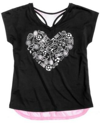 Ideology Layered-Look Heart Top, Big Girls L 14 Created for Macy's