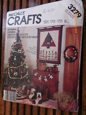 Vintage Vogue 2794 XMAS Advent Calendar Christmas Ornaments Sewing Pattern