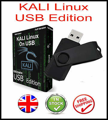 Kali Linux New 2020 Edition On Bootable Usb Pen  + 600+ Hacking Tools
