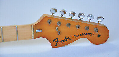 1973 Vintage Fender Stratocaster NECK with Original Tuners ~CLEAN~ 1970s Strat