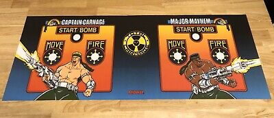 Total Carnage Control Panel Overlay Art Arcade Artwork Decal CPO Midway Williams