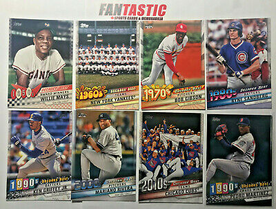 2020 Topps Series 1 DECADES BEST Insert Card YOU PICK Base, Blue or Black/299