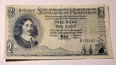 1961 - 1965 South Africa 2 Rand Banknote Papermoney