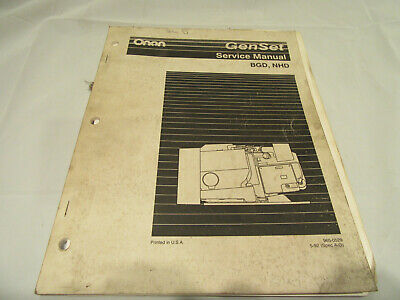 ONAN RV Series BF A-B  BFA A-C NH J-P BGA  A-C Service Shop Manual 900-0337