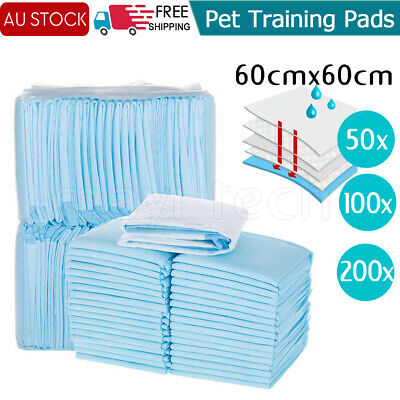 50/200pc 60x60cm Puppy Pet Dog Indoor Cat Toilet Training Pads wee Pee Absorbent