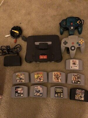 Nintendo 64 N64 Video Game Console System Bundle - Lot 9 Games - TESTED!! WORKS!