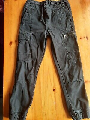 Boys (Faded) Black Combat Trousers Age 7 Years